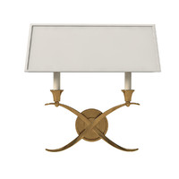 Visual Comfort CHD1191AB-NP EF Chapman Cross 2 Light 15 inch Antique Burnished Brass Decorative Wall Light