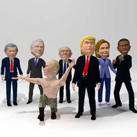 3d caricature pack model