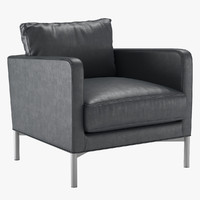 3d armchair dumas living divani model