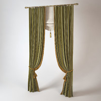 3d classic cabinet curtains model