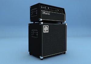 bass guitar set ampeg 3d model