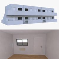 3d motel interior