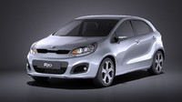 3d model kia rio 2014