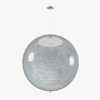 disco mirror glitter ball 3d max