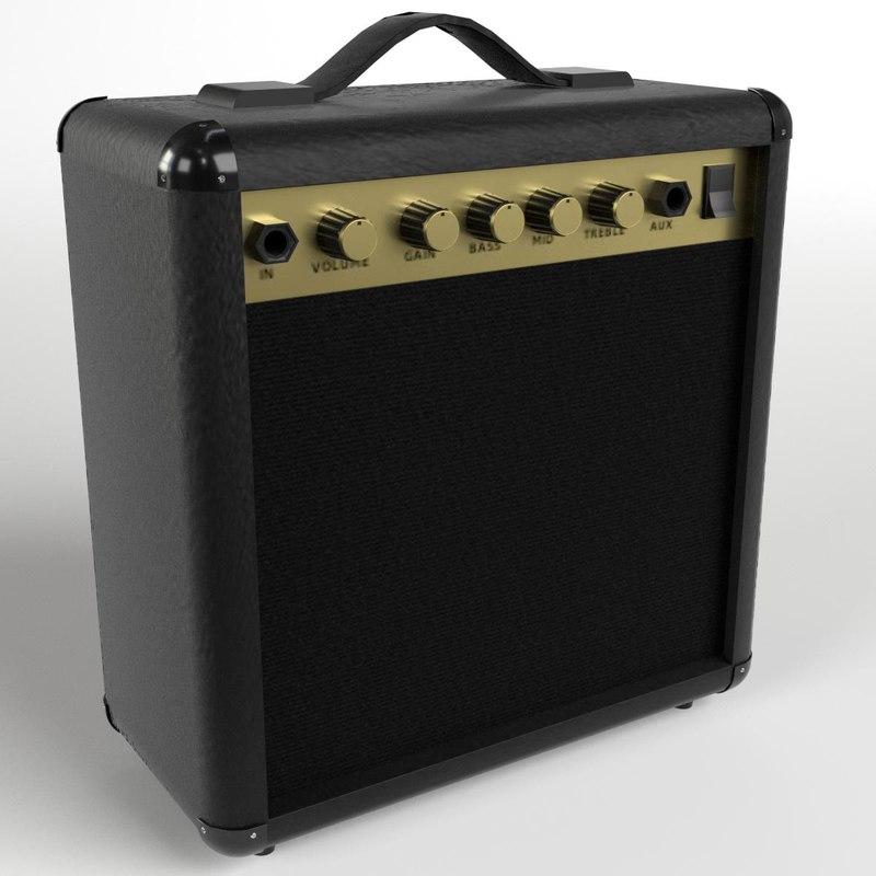 3d guitar amplifier model