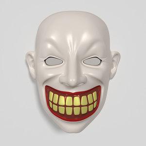 clown mask 3d 3ds