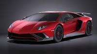 2016 lamborghini aventador 3d 3ds