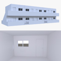 motel interior 3d obj