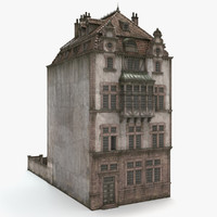 obj old city house build