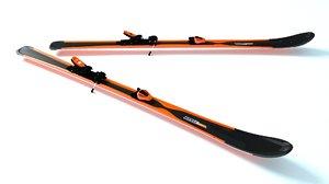 3d model skis hd