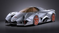Lamborghini Egoista VRAY