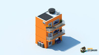 low poly city builder residential 2