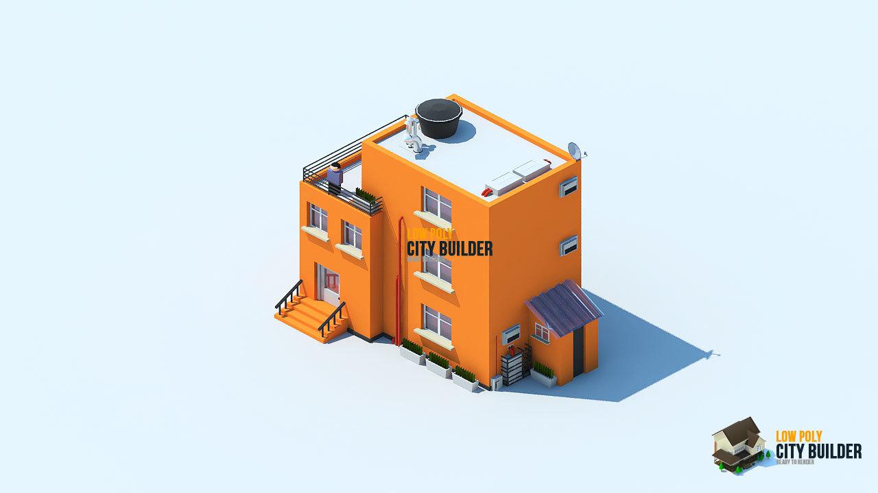 3d city builder house residential model