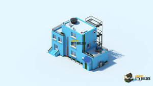 3d model city builder residential 7