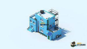 3d model city builder residential 7