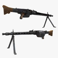 mg-42 gun 3d max