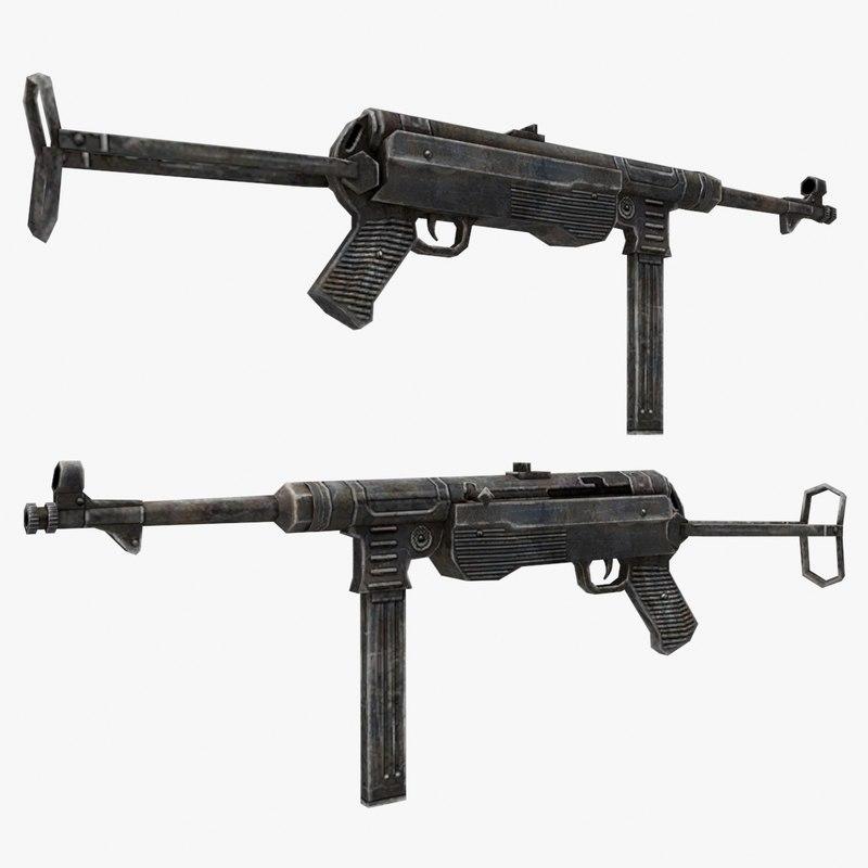 mp-40 gun 3d model