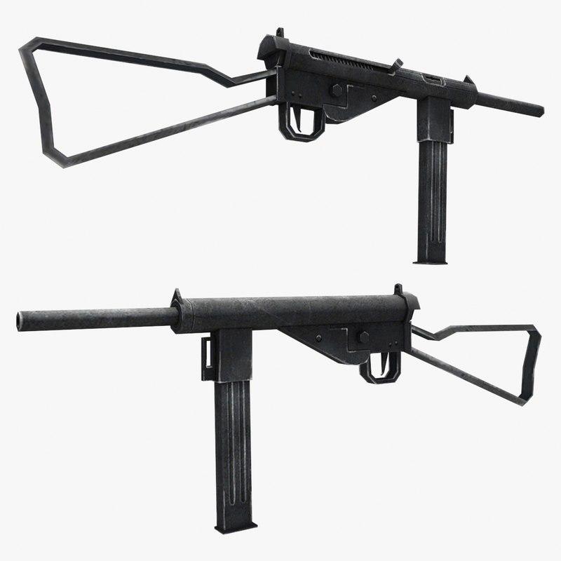 3d model mp-3008 gun