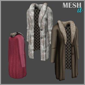 coat fur obj