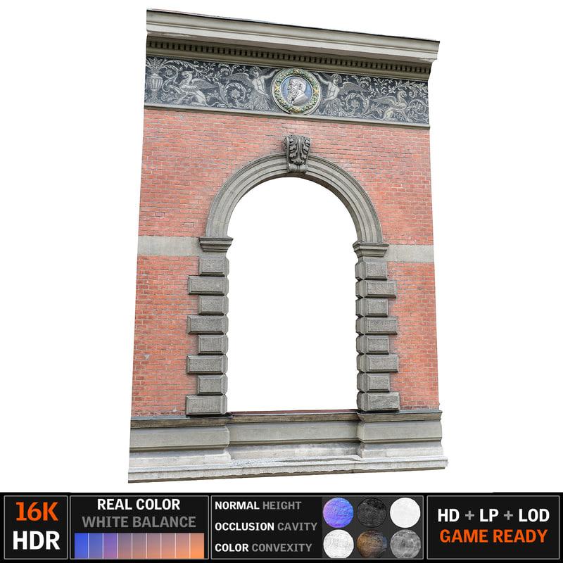 3d model old window scan 8k