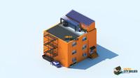 3d model city builder residential 10