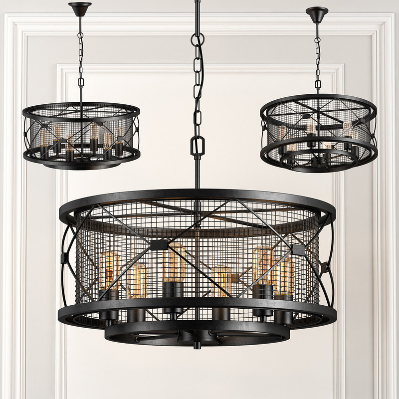 chandelier loft 3d obj