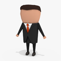 simple businessman 3d 3ds