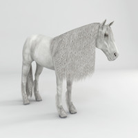 realistical horse rigged 3ds