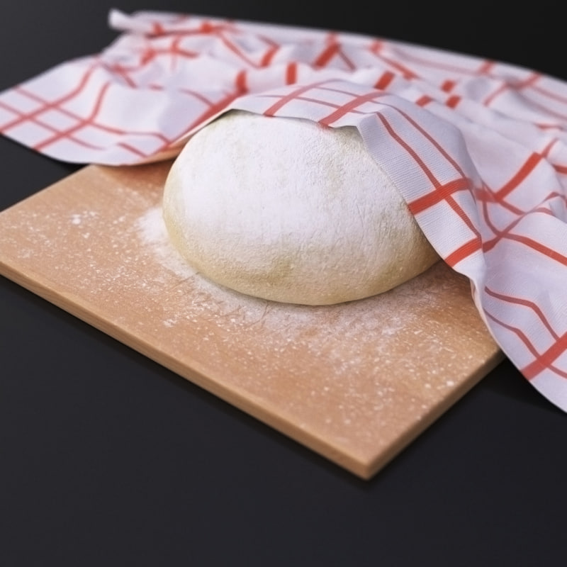 dough pastry kitchen 3d max