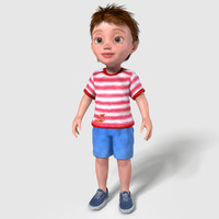 3d model cartoon child boy