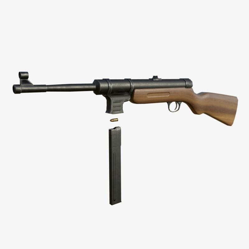 3d model mp41 gun