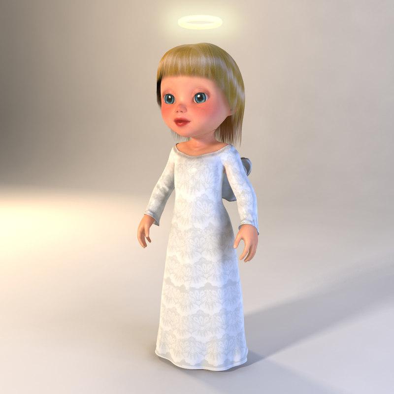 3d model angel girl