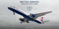 boeing 757-200 british airways 3d model