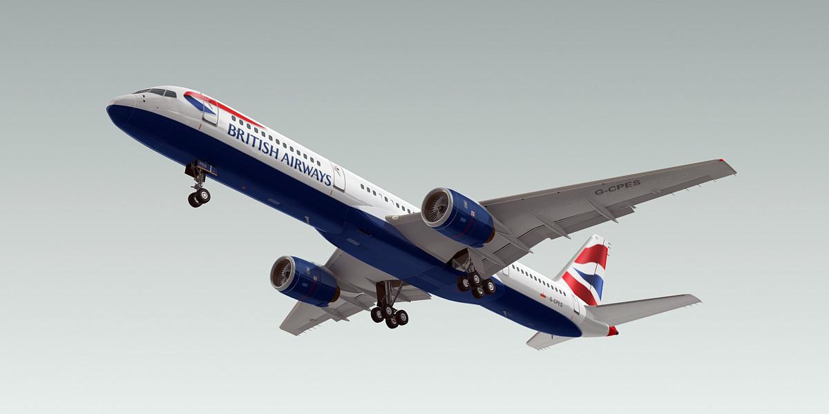 3ds boeing 757-200 plane british airways