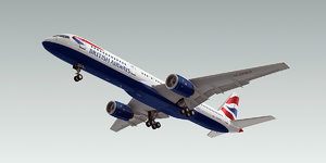 3ds boeing 757-200 plane british airways