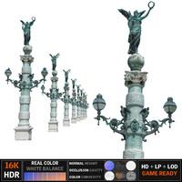 3d model lantern street 8k