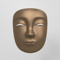 3d model of japanese mask