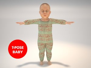 baby realistic sweet 3d obj