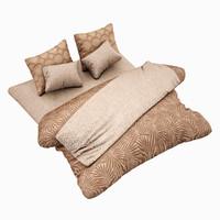 bed set highpoly 3d model