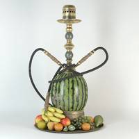 watermelon hookah 3d model