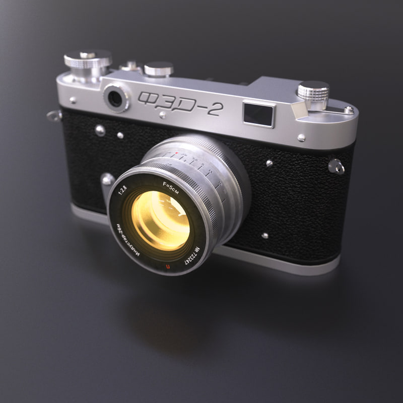 3d model old vintage camera