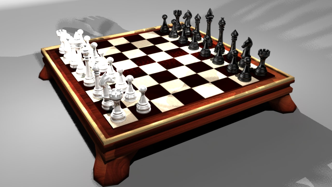 chess classic 3d fbx