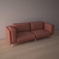 Sofa 3d Model Nockeby Ikea