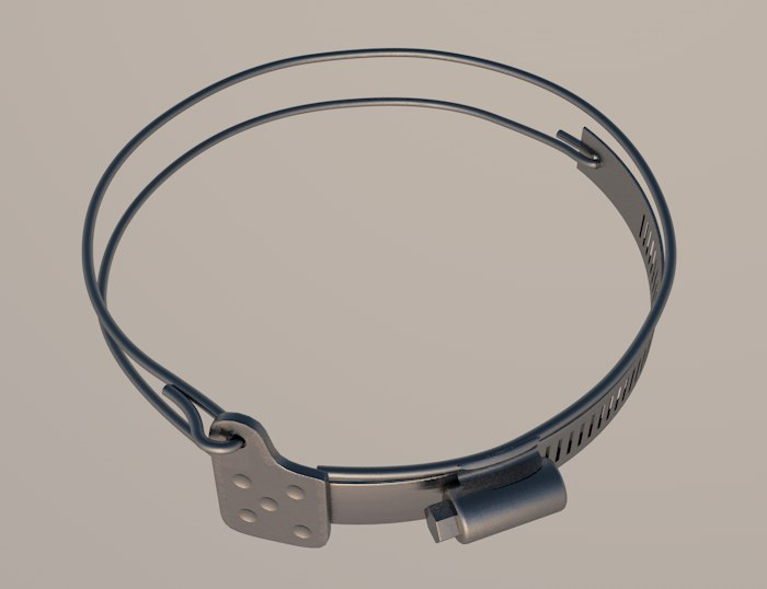 clamp connector metal 3ds