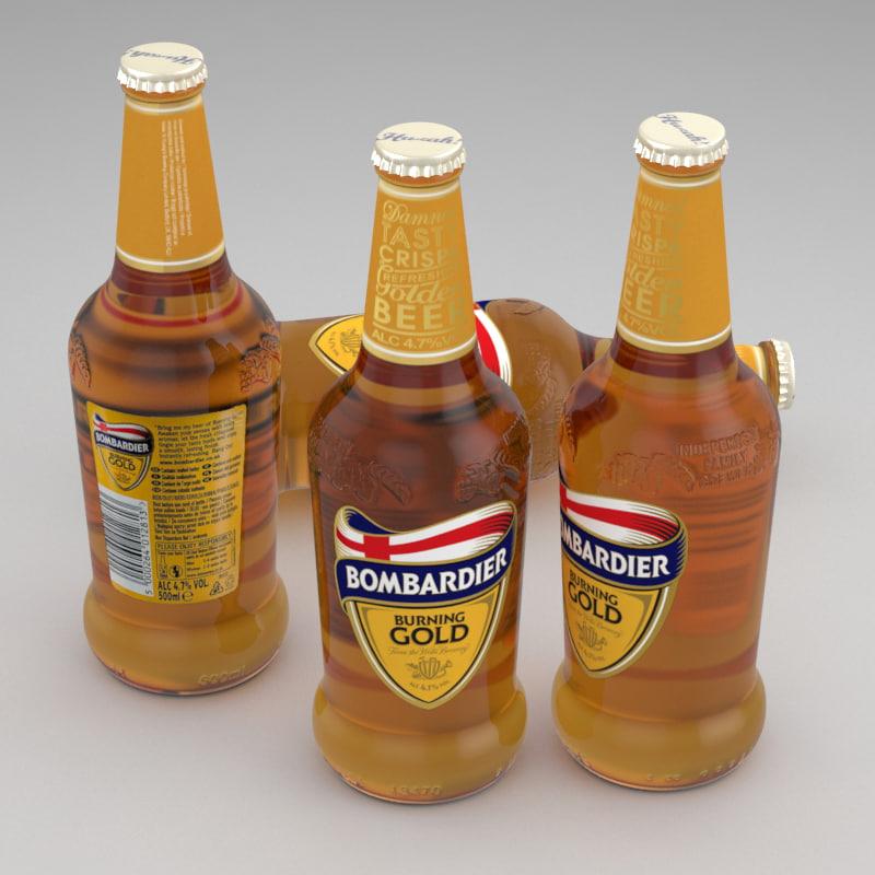 3d model beer bottle