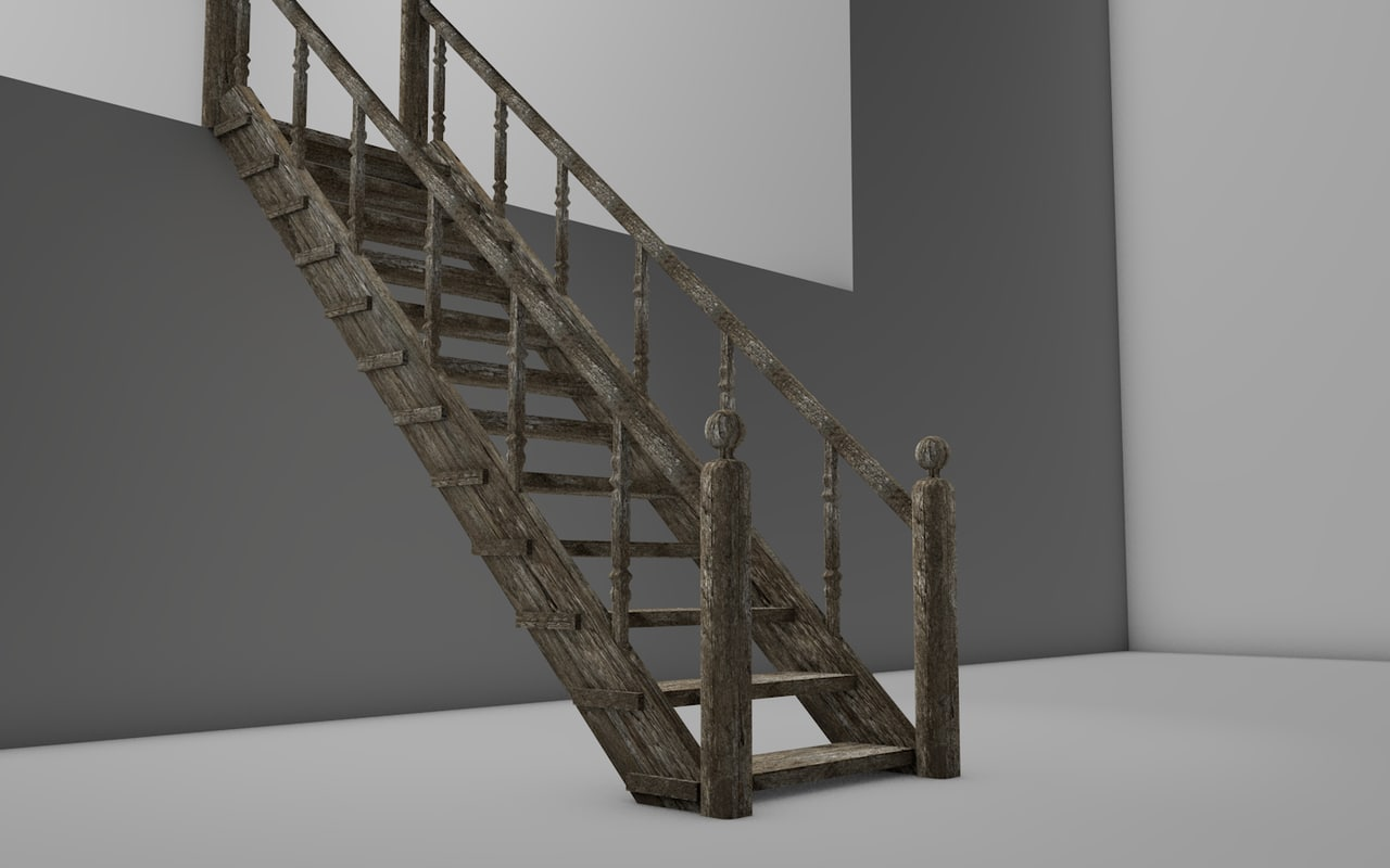 old staircase house 3d model