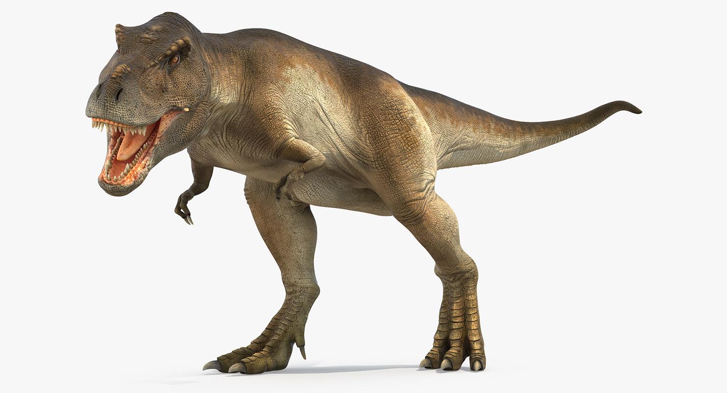 tyrannosaurus rex attacks 3d max