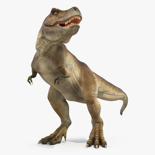 tyrannosaurus rex standing 3d 3ds