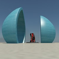 martyre s monument baghdad 3d model