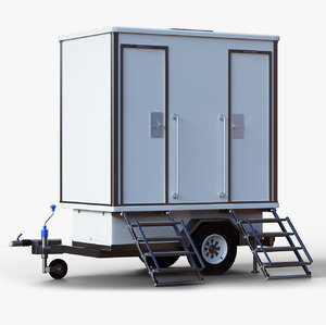 3d portable restroom event